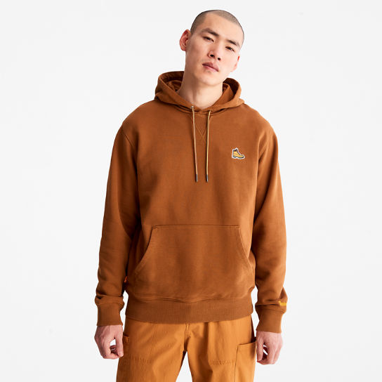 Boot Logo Hoodie for Men in Brown | Timberland