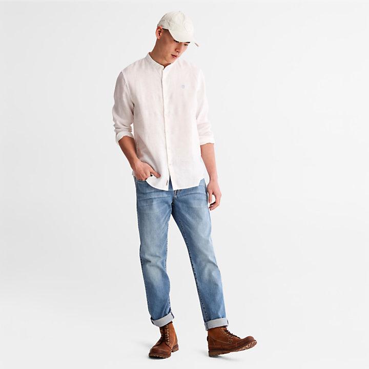 Chemise en lin Mill River pour homme en blanc-