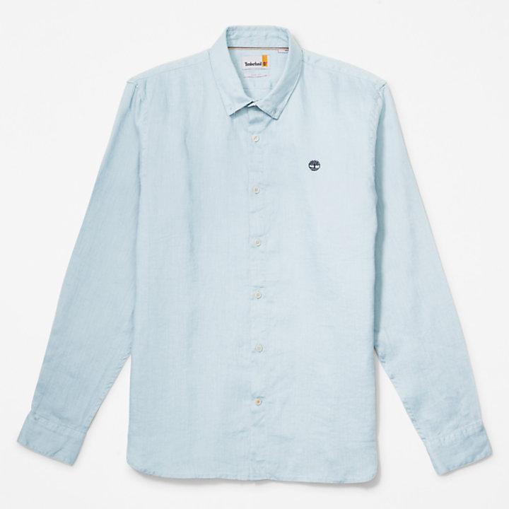 Mill River LS Linnen Overhemd voor heren in lichtblauw-