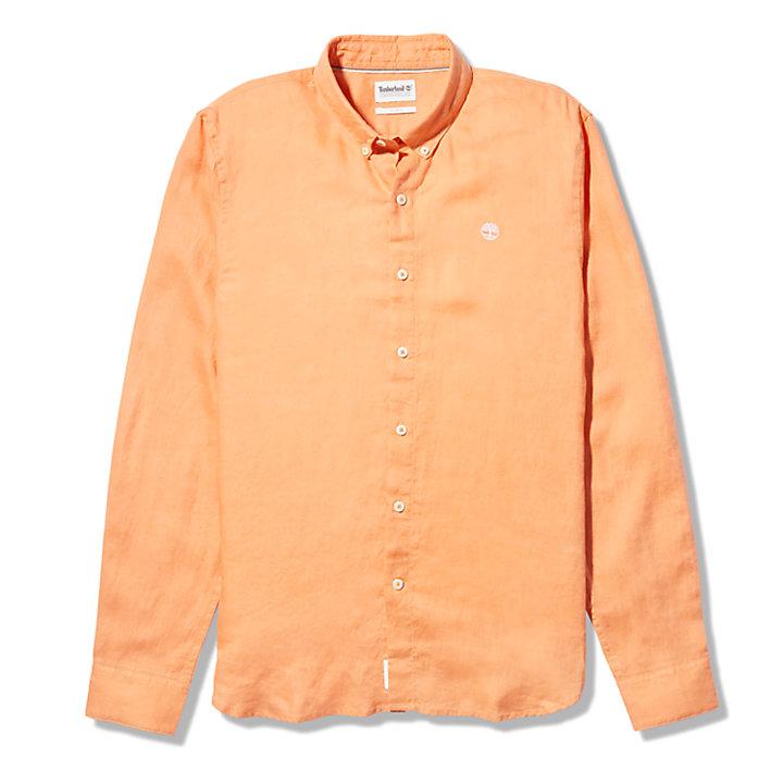 Mill River LS Linen Shirt for Men in Peach-