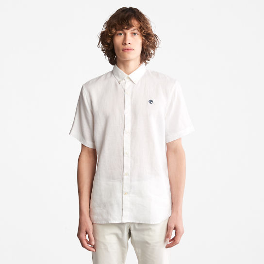 Mill River Short-sleeve Linen Shirt for Men in White | Timberland