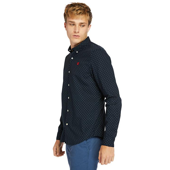 Eastham River Herrenhemd aus Popeline in Navyblau-
