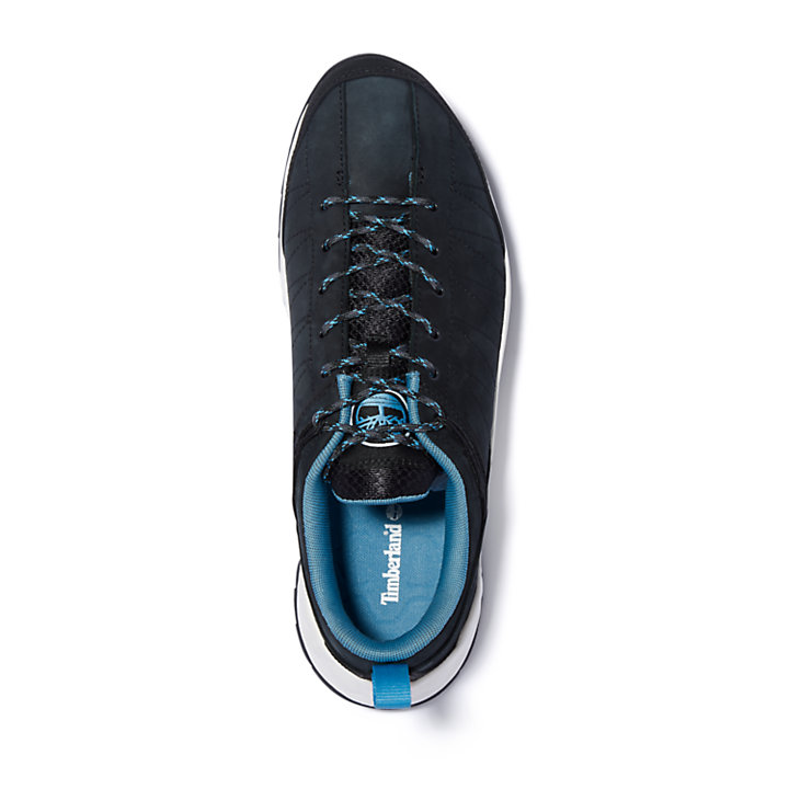 Solar Wave Leather Sneaker for Men in Black-