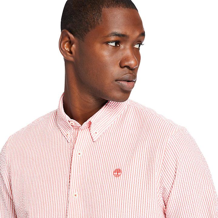 Camisa de Sirsaca a Rayas para Hombre en rojo-