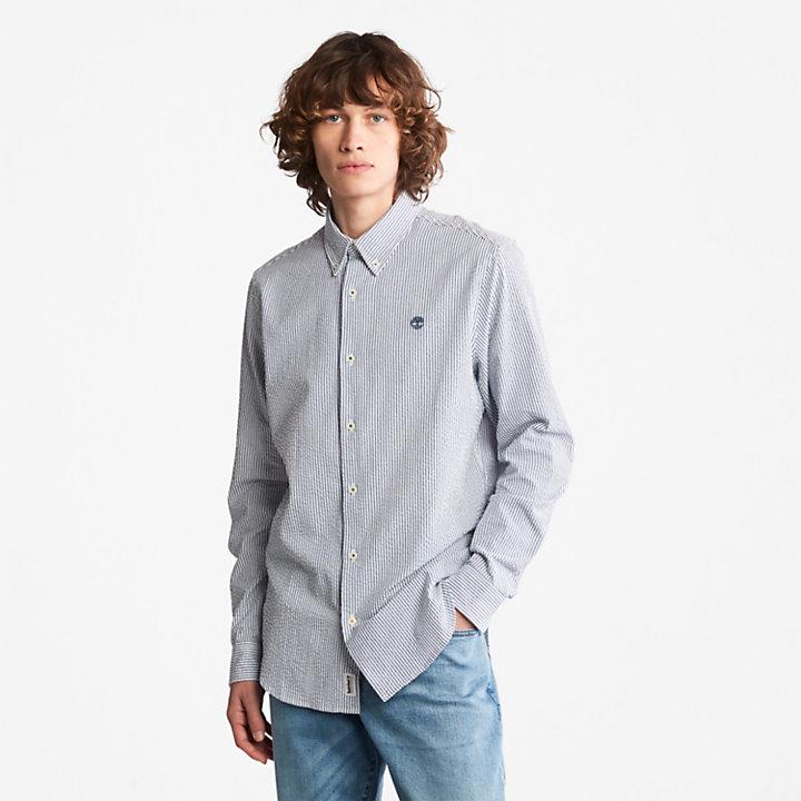 Camisa de Sirsaca a Rayas para Hombre en azul marino-