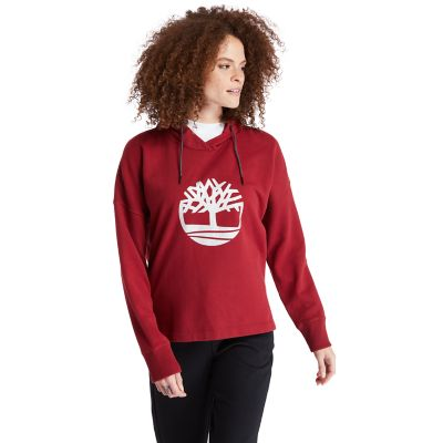 Reflective+Logo+Hoodie+for+Women+in+Red