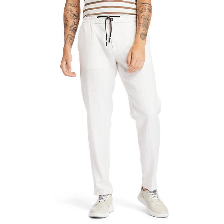 Lovell Lake Tapered Joggers for Men in Beige-