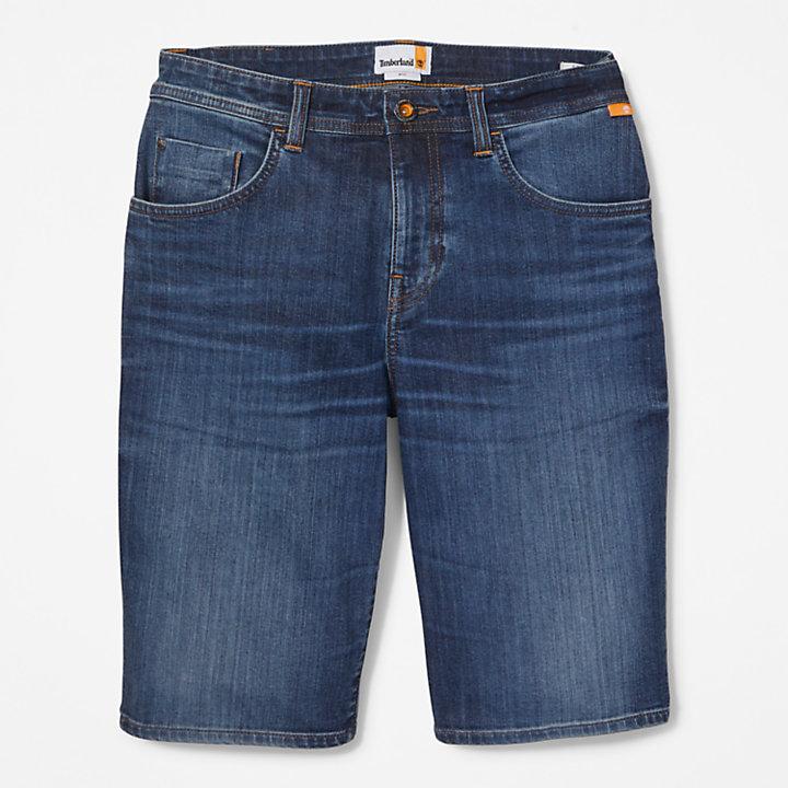Canobie Lake Denim Shorts for Men in Indigo-