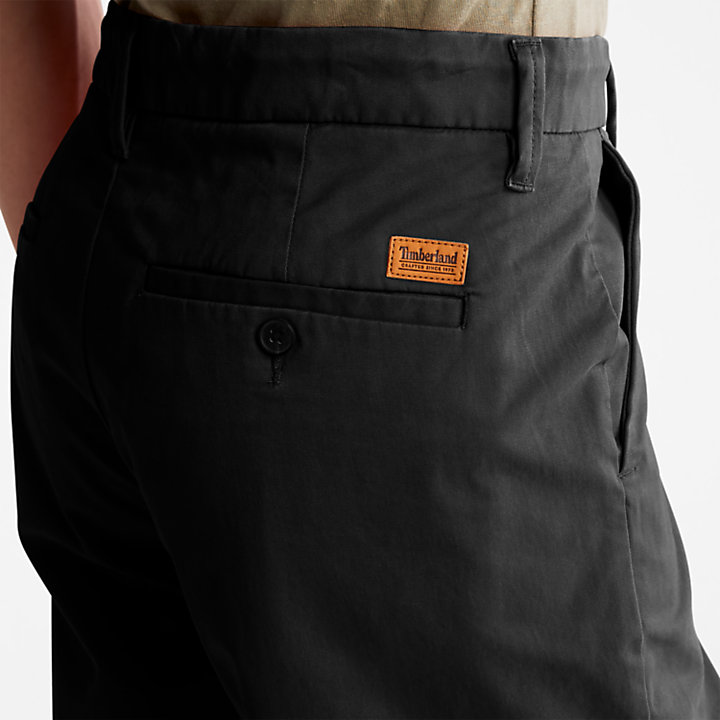 Squam Lake Stretch Chino Shorts for Men in Black-