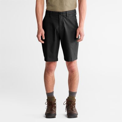 Squam+Lake+Stretch+Chino+Shorts+for+Men+in+Black
