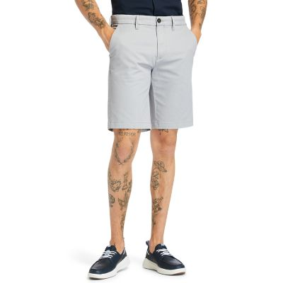 Squam+Lake+Stretch+Chino+Shorts+for+Men+in+Grey