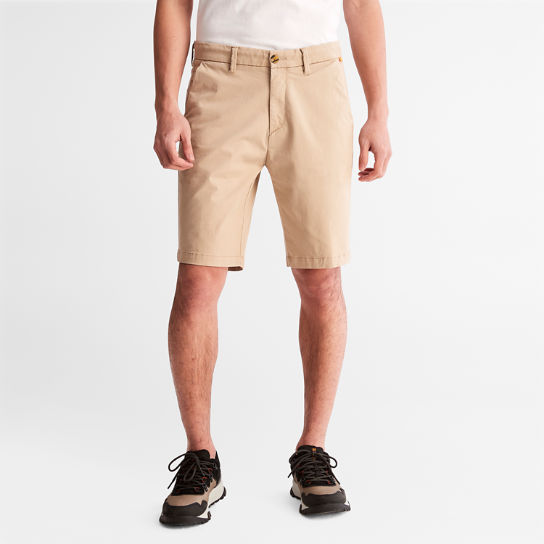 Squam Lake Stretch Chino Shorts for Men in Beige | Timberland