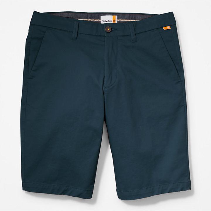 Short chino stretch Squam Lake pour homme en bleu foncé-