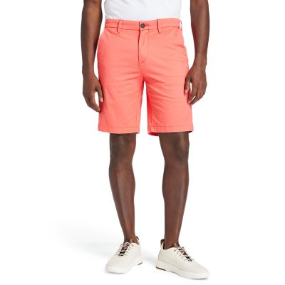 Squam+Lake+Stretch+Chino+Shorts+for+Men+in+Red