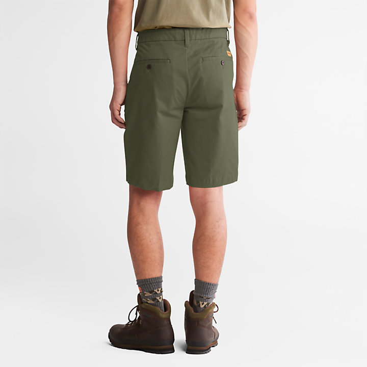 Squam Lake Stretch Chino Shorts for Men in Green-