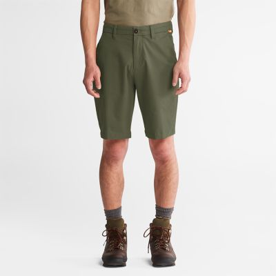 Squam+Lake+Stretch+Chino+Shorts+for+Men+in+Green