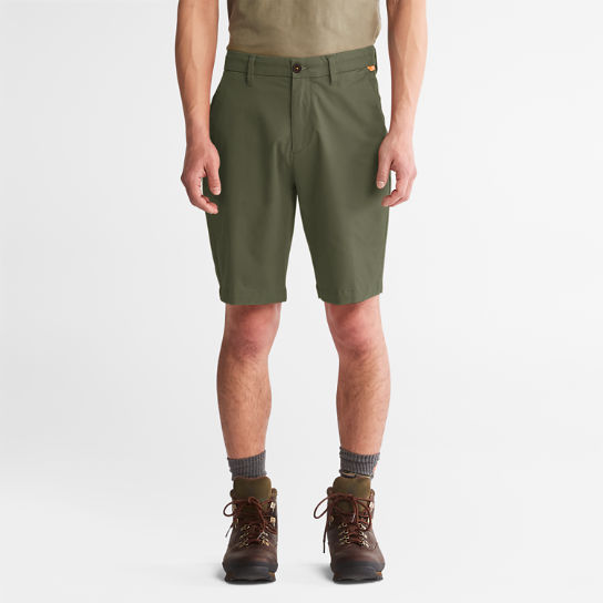 Squam Lake Stretch Chino Shorts for Men in Green | Timberland