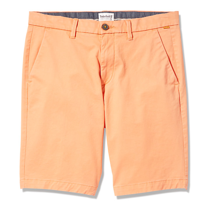Squam Lake Stretch Chino Shorts for Men in Peach-