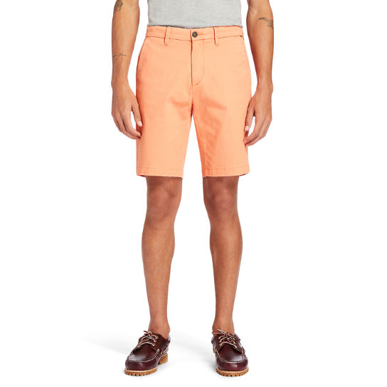 Squam Lake Stretch Chino Shorts for Men in Peach | Timberland