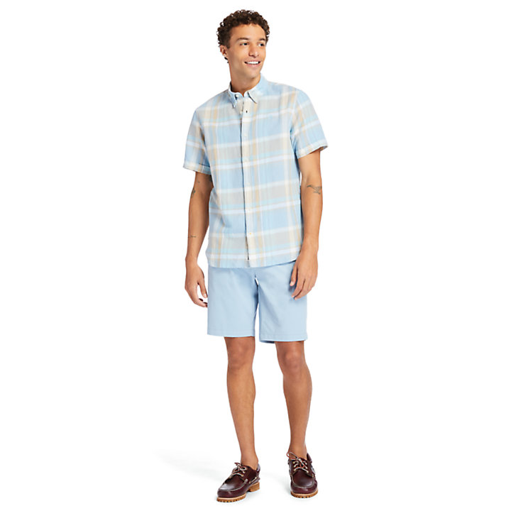 Short chino stretch Squam Lake pour homme en bleu-