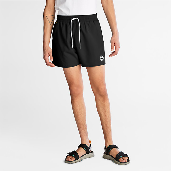 Sunapee Lake Solid-colour Swim Shorts for Men in Black-