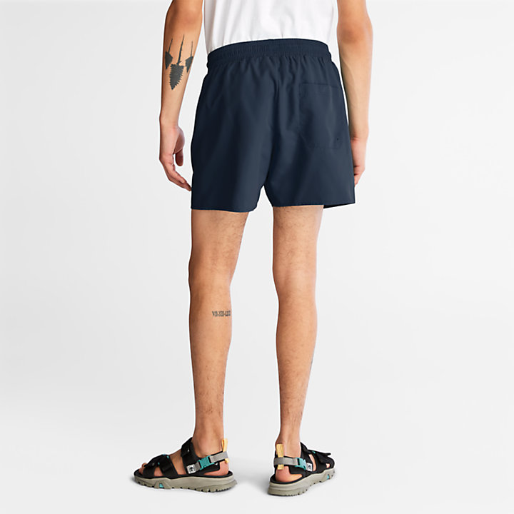 Shorts Mare da Uomo a Tinta Unita Sunapee Lake in blu marino-