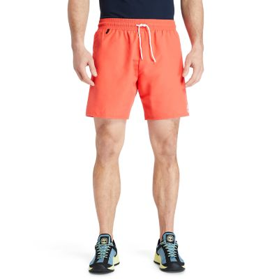 Sunapee+Lake+Solid-colour+Swim+Shorts+for+Men+in+Red