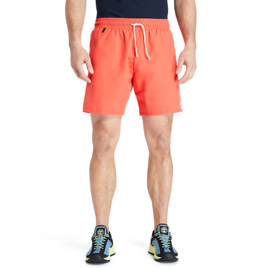 Sunapee Lake Solid-colour Swim Shorts for Men in Red | Timberland
