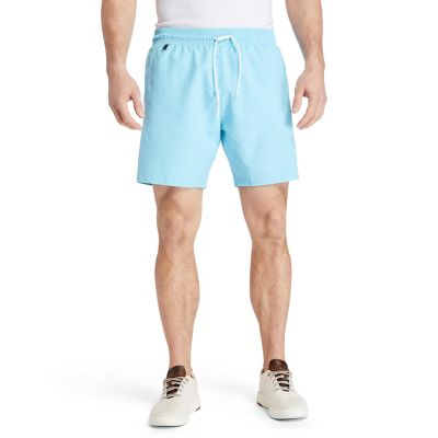 Sunapee+Lake+Solid-colour+Swim+Shorts+for+Men+in+Blue