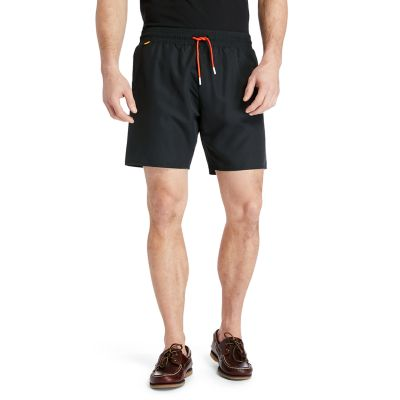 Sunapee+Lake+Logo+Swim+Shorts+for+Men+in+Black
