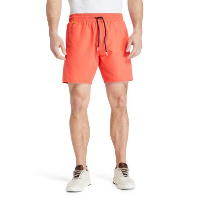 Sunapee+Lake+Logo+Swim+Shorts+for+Men+in+Coral
