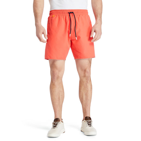 Sunapee Lake Logo Swim Shorts for Men in Coral | Timberland