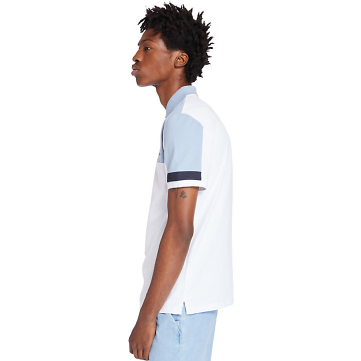 Millers River Colour-block Polo Shirt for Men in White-