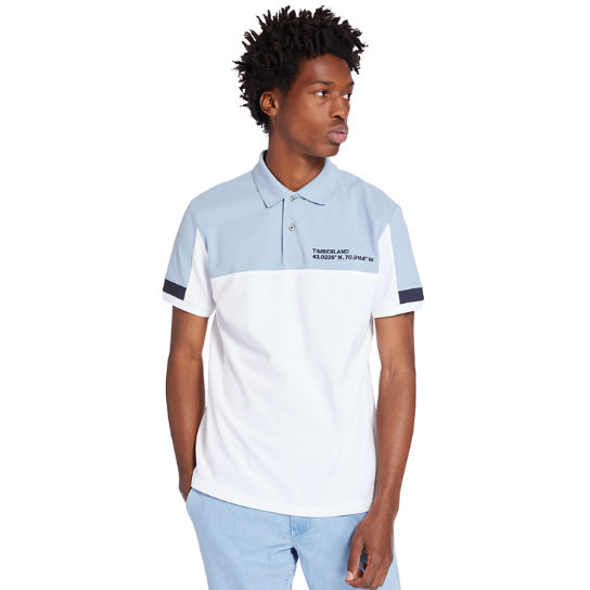Millers River Colour-block Polo Shirt for Men in White | Timberland
