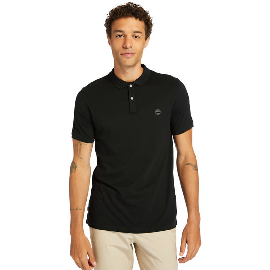 Cocheco River Supima® Cotton Polo Shirt for Men in Black | Timberland
