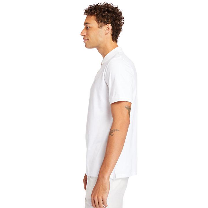 Cocheco River Supima® Cotton Polo Shirt for Men in White-