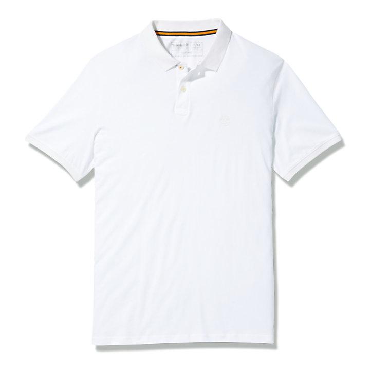 Cocheco River Polohemd aus Supima®-Baumwolle für Herren in Weiß-