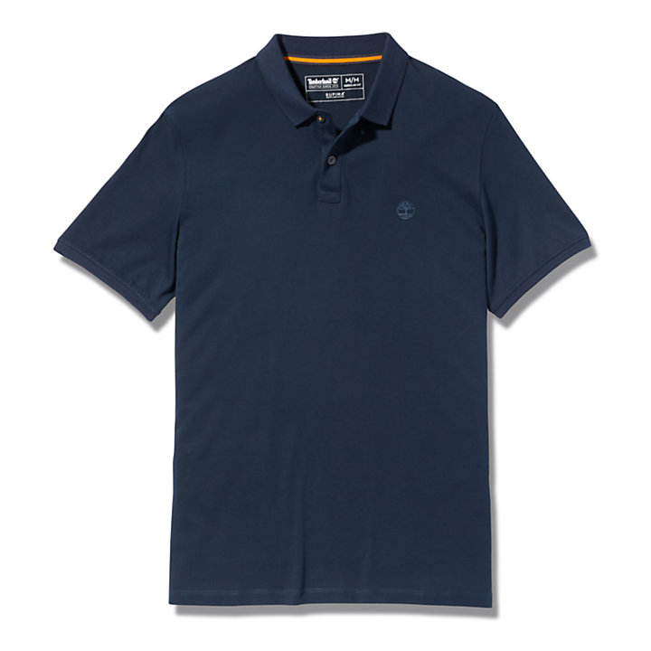 Cocheco River Supima® Cotton Polo Shirt for Men in Navy-