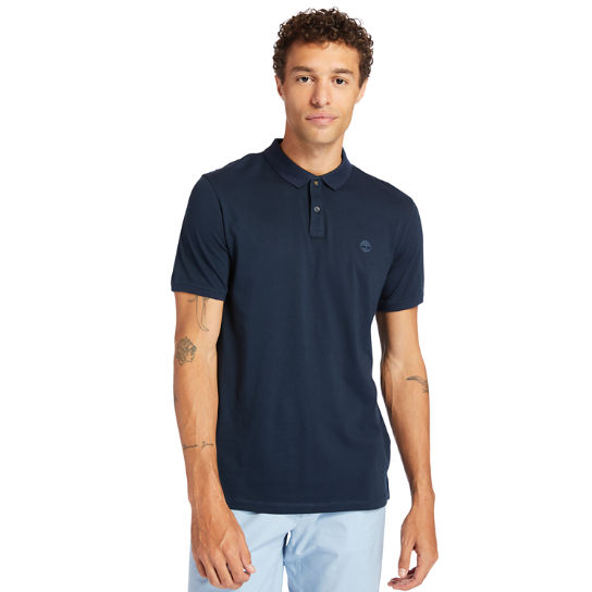 Cocheco River Supima® Cotton Polo Shirt for Men in Navy | Timberland