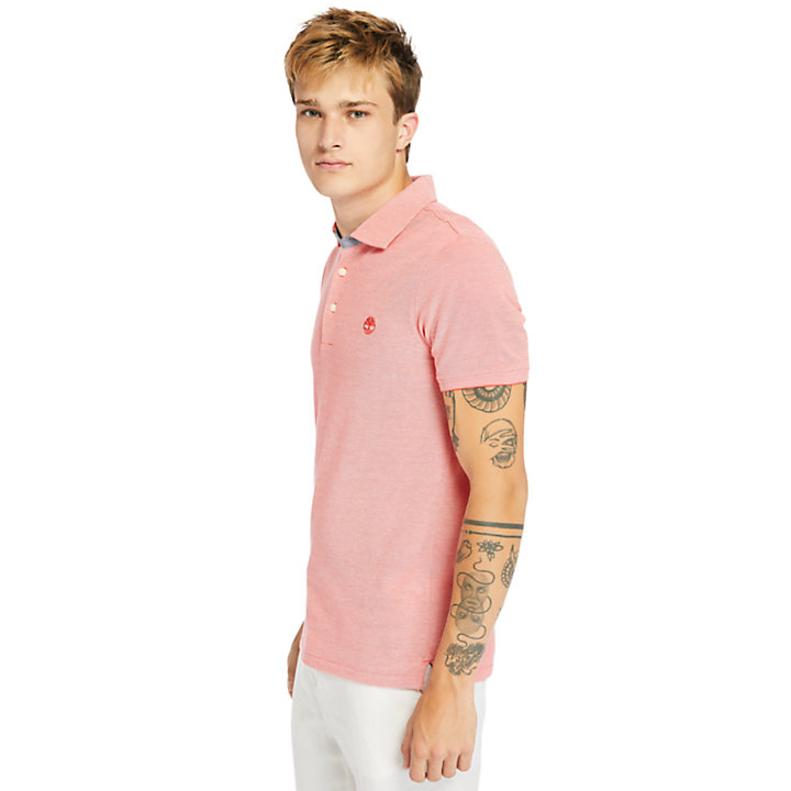 Baboosic Brook Polo Shirt for Men in Red-