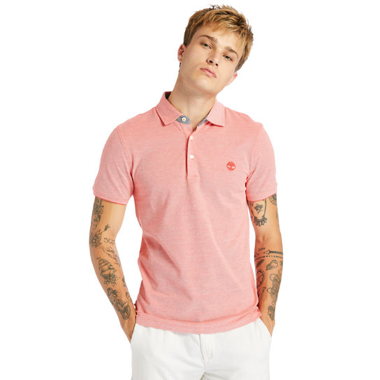 Baboosic Brook Polo Shirt for Men in Red | Timberland