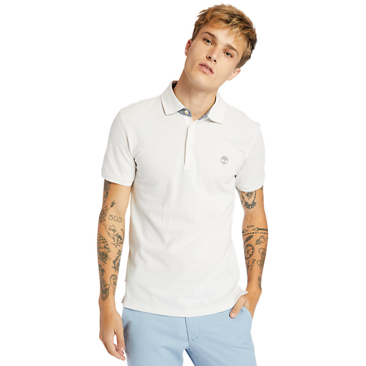 Baboosic Brook Polo Shirt for Men in White-