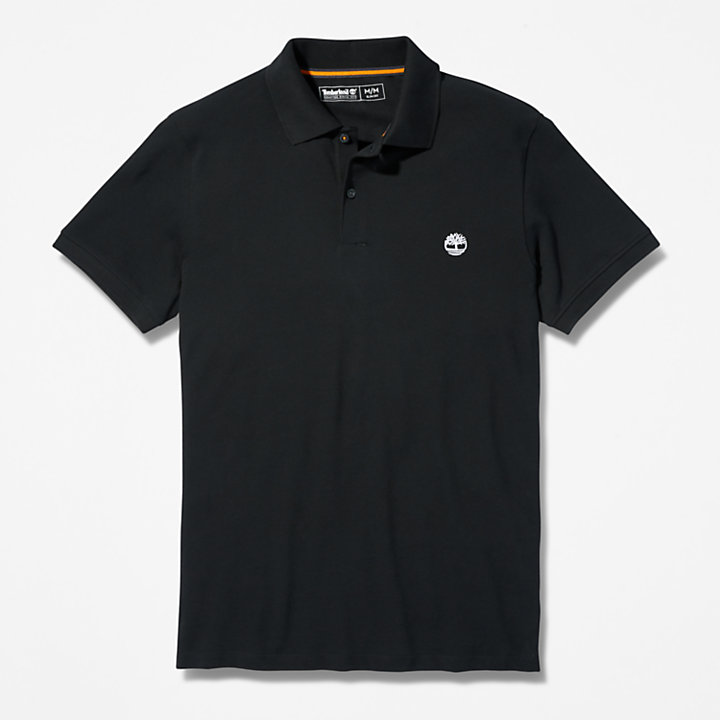 Merrymeeting River Polo Shirt for Men in Black-
