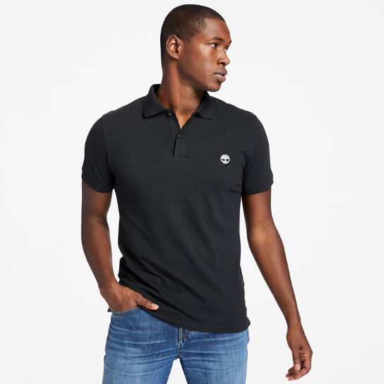 Merrymeeting River Polo Shirt for Men in Black | Timberland