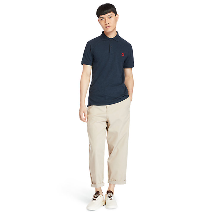 Merrymeeting River Polo Shirt for Men in Navy-