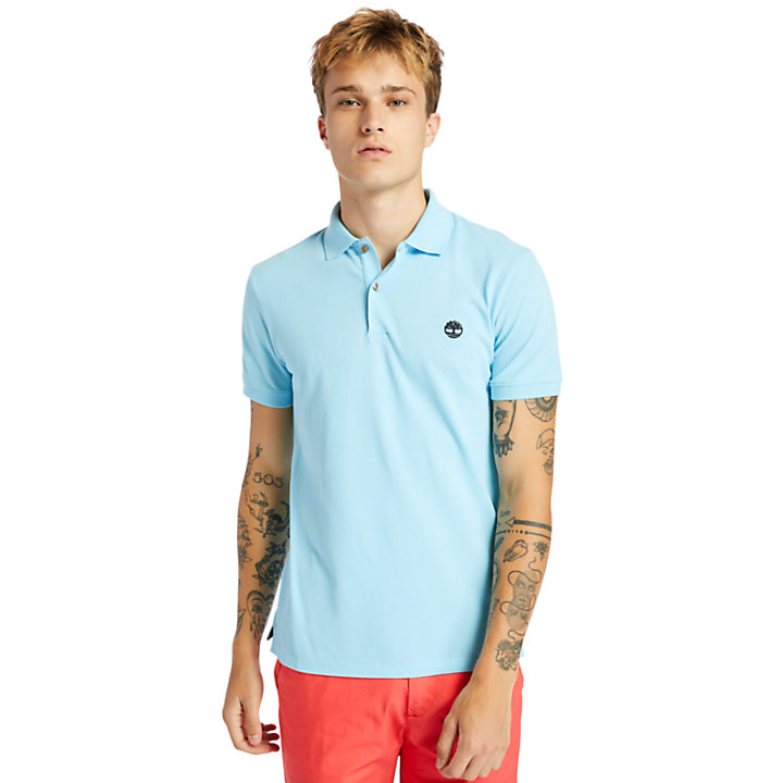 Merrymeeting River Polo Shirt for Men in Blue-