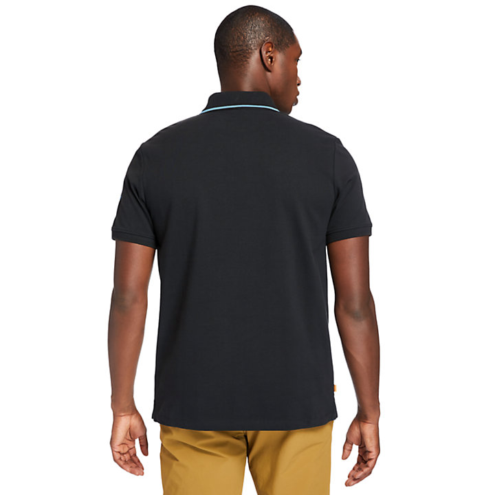 Polo Mountain-to-Rivers pour homme en noir-