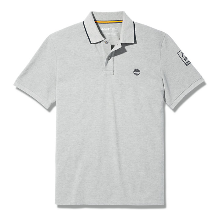 Mountain-to-Rivers Polo Shirt for Men in Grey-