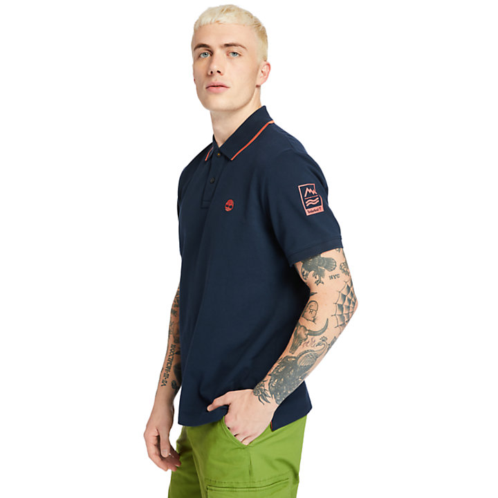 Polo Mountain-to-Rivers para Hombre en azul marino-