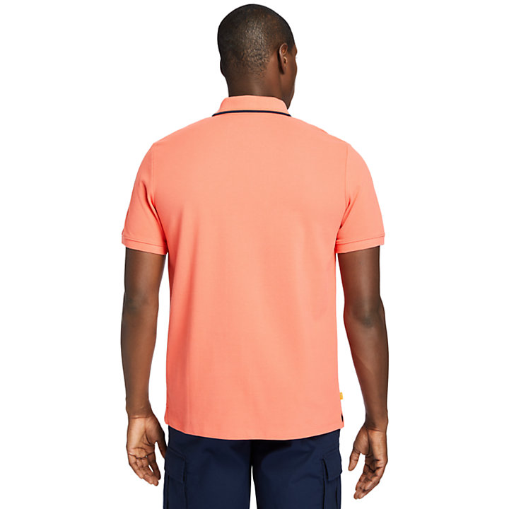 Mountain-to-Rivers Polo Shirt for Men in Red-